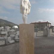 "John Greer, Facing East, 2009 Marble, Travertine, 90cm x 60cm x 365cm / 35""x 24"" x 144"""