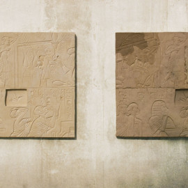 "Reproduction: ""Hiroshima - Texas Limestone, 2007"" + ""Take off, little boy!"", 2007 by John Greer; Photo © Raoul Manuel Schnell"