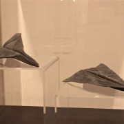 Lead to Belief, 1978 by John Greer,  In the collection of the Art Gallery of Nova Scotia, Folded from 20.3cm x 25.4cm sheet lead, each 25.4cm x 10cm x 5cm Weight 0.4536kg