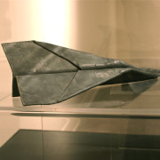 Lead to Belief, 1978, by John Greer, In the collection of the Art Gallery of Nova Scotia, Folded from 20.3cm x 25.4cm sheet lead, each 25.4cm x 10cm x 5cm Weight 0.4536kg