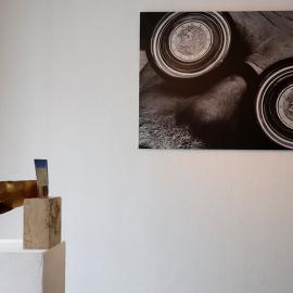 mixed media work by John Greer